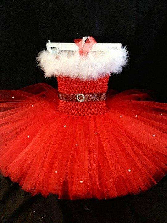 Детское новогоднее платье из фатина своими руками