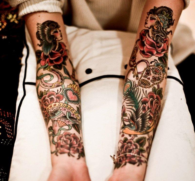 Красивые женские тату на руке