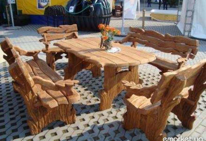 Садовая мебель из массива дерева своими руками