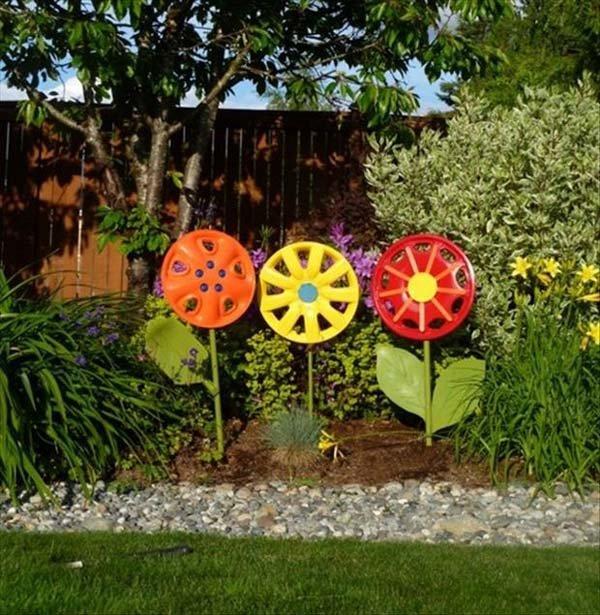 Поделки из бросового материала для дачи сада огорода своими руками 12