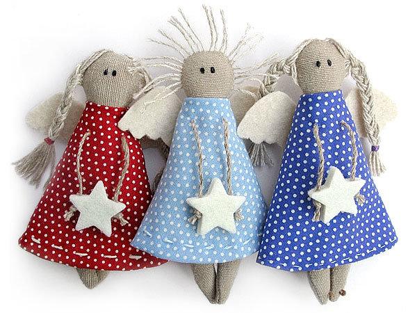 Новогодние кукла ангел своими руками из ткани