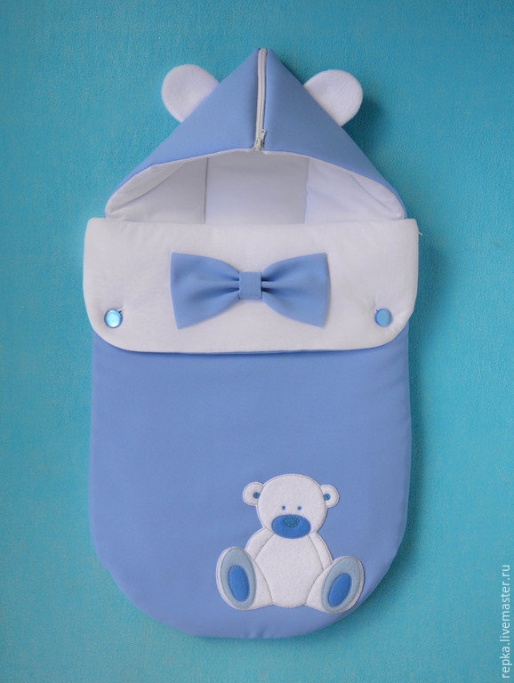 Конверт для прогулок новорожденному своими руками 12