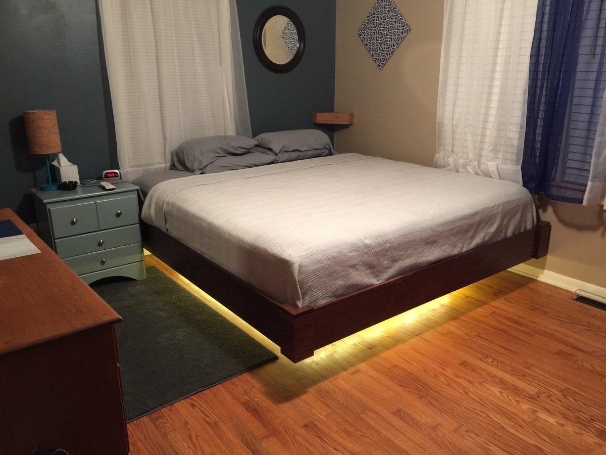 Кровать своими руками с подсветкой фото