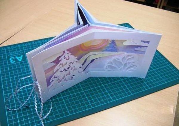 Книжка открытка из бумаги 137