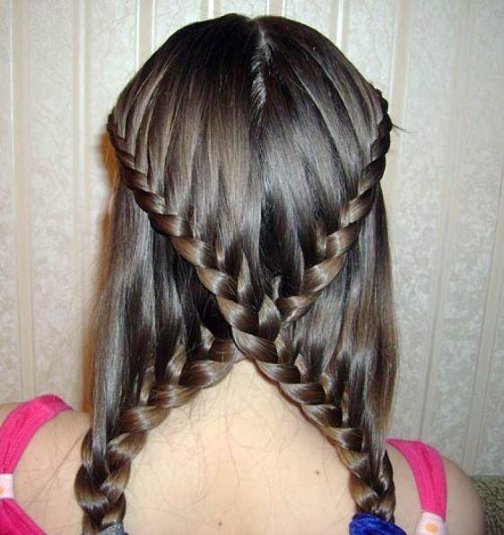 Прически из косы в школу за