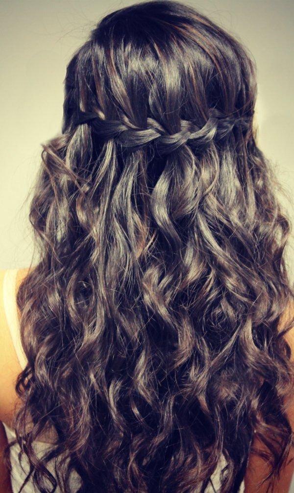 Фото прически на густые волосы