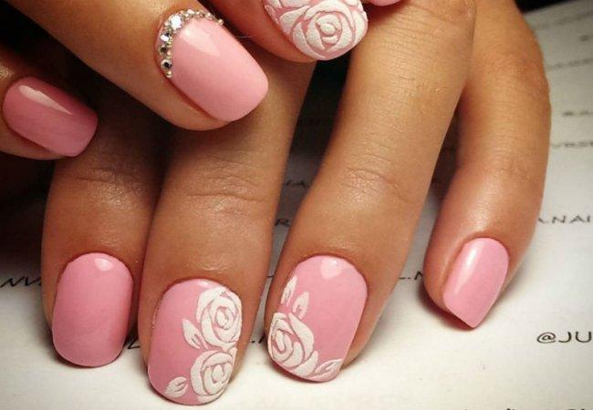 Дизайн ногтей розы фото