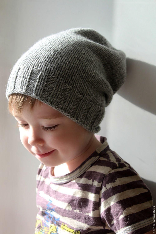 Шапка БИНИ спицами с описанием вязания, видео, фото 30