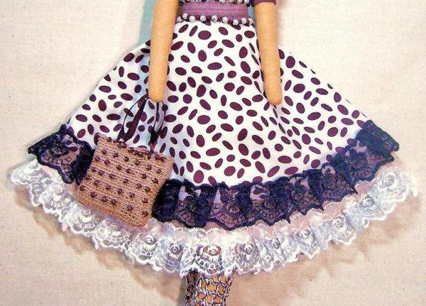 Как сшить юбку для большой куклы 74