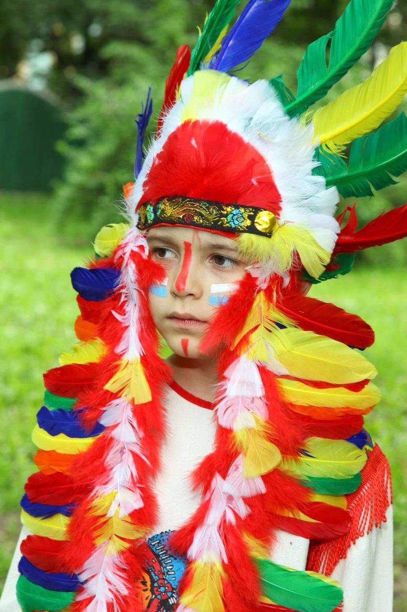 Костюм индейца из бумаги своими руками