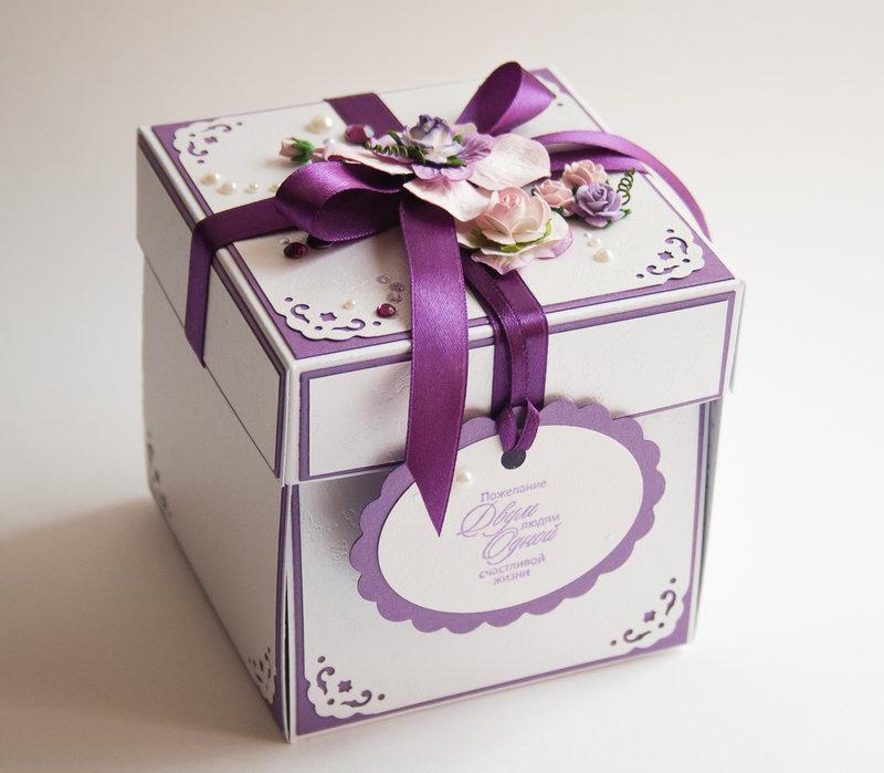 Коробочка для свадебного подарка своими руками