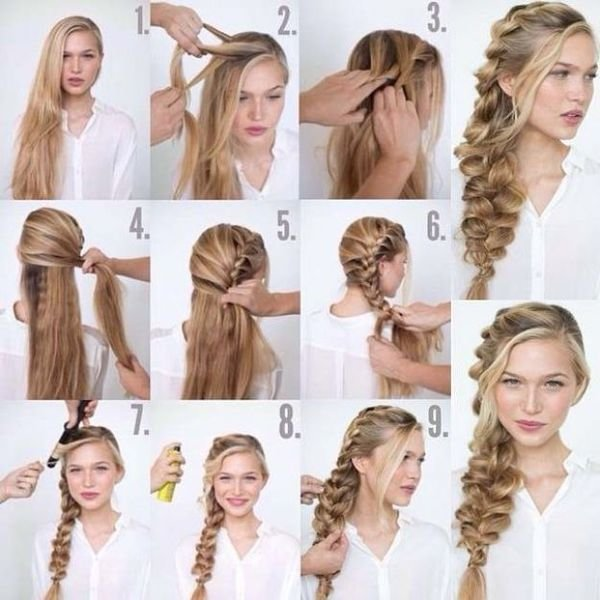 Прически с косами для длинных волос своими руками