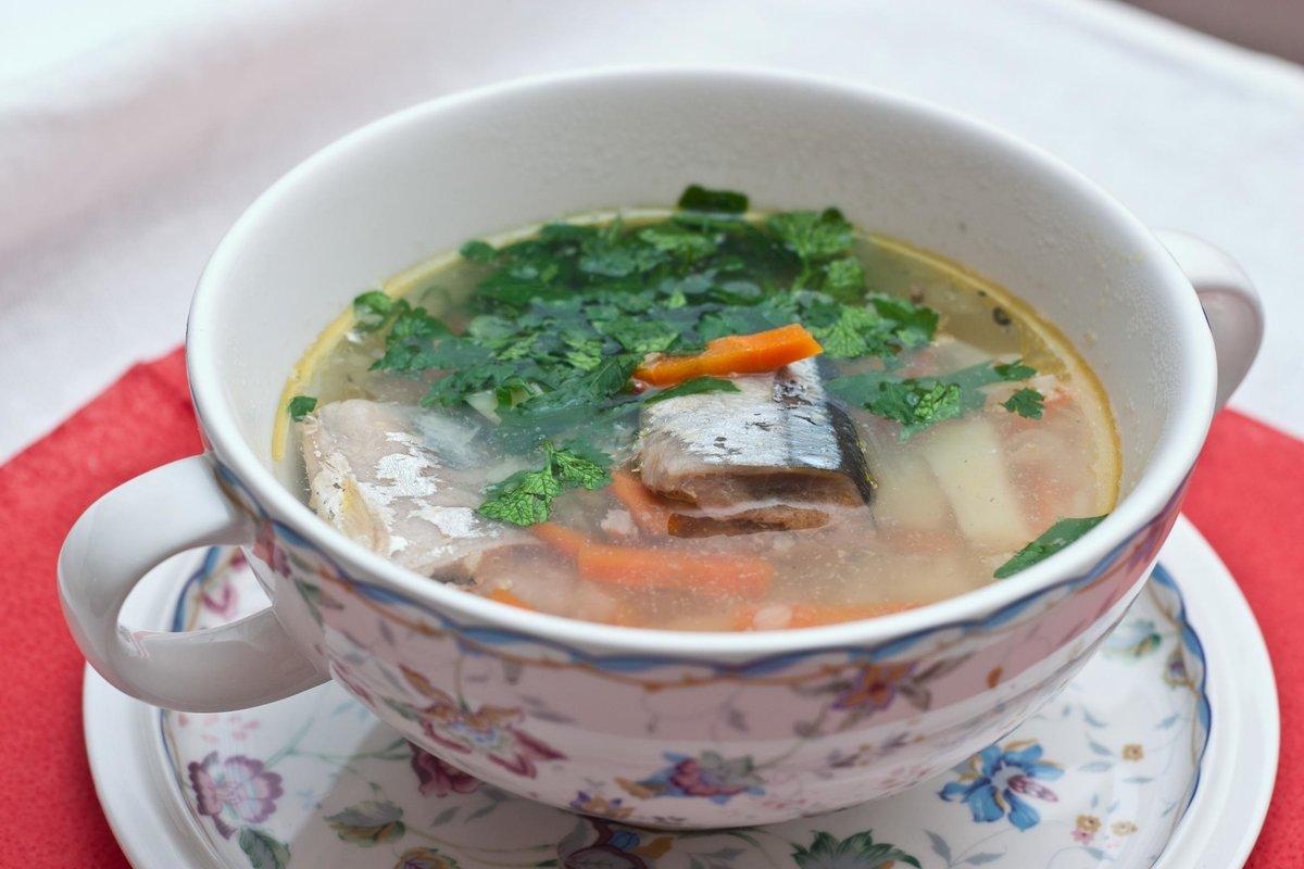 Суп из консервы сайры пошаговый рецепт с