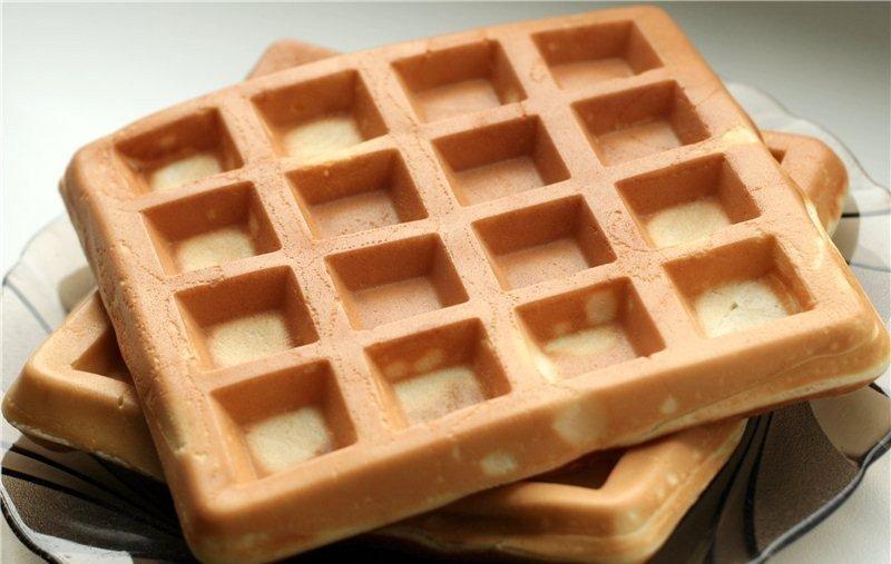 Венские вафли мягкие в вафельнице с фото пошагово