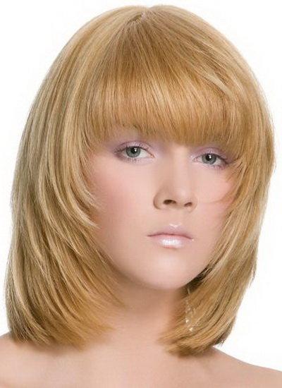 Фото стрижек каскад-каре на средней длины волос