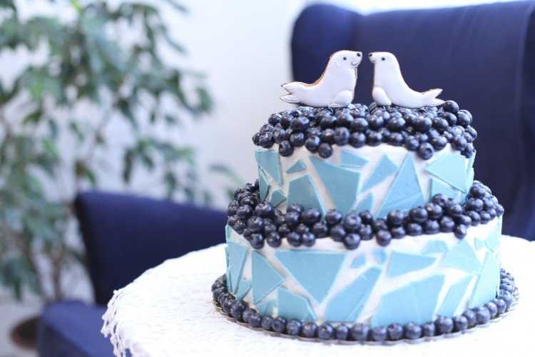 Синий торт своими руками 9