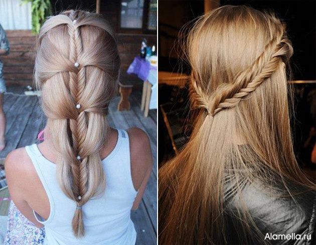 Красивые прически на каждый день длинные волосы фото