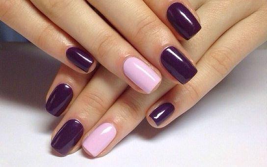 Ногти цвета баклажан дизайн
