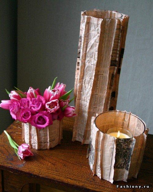 Красивая ваза своими руками для оформления цветочных букетов