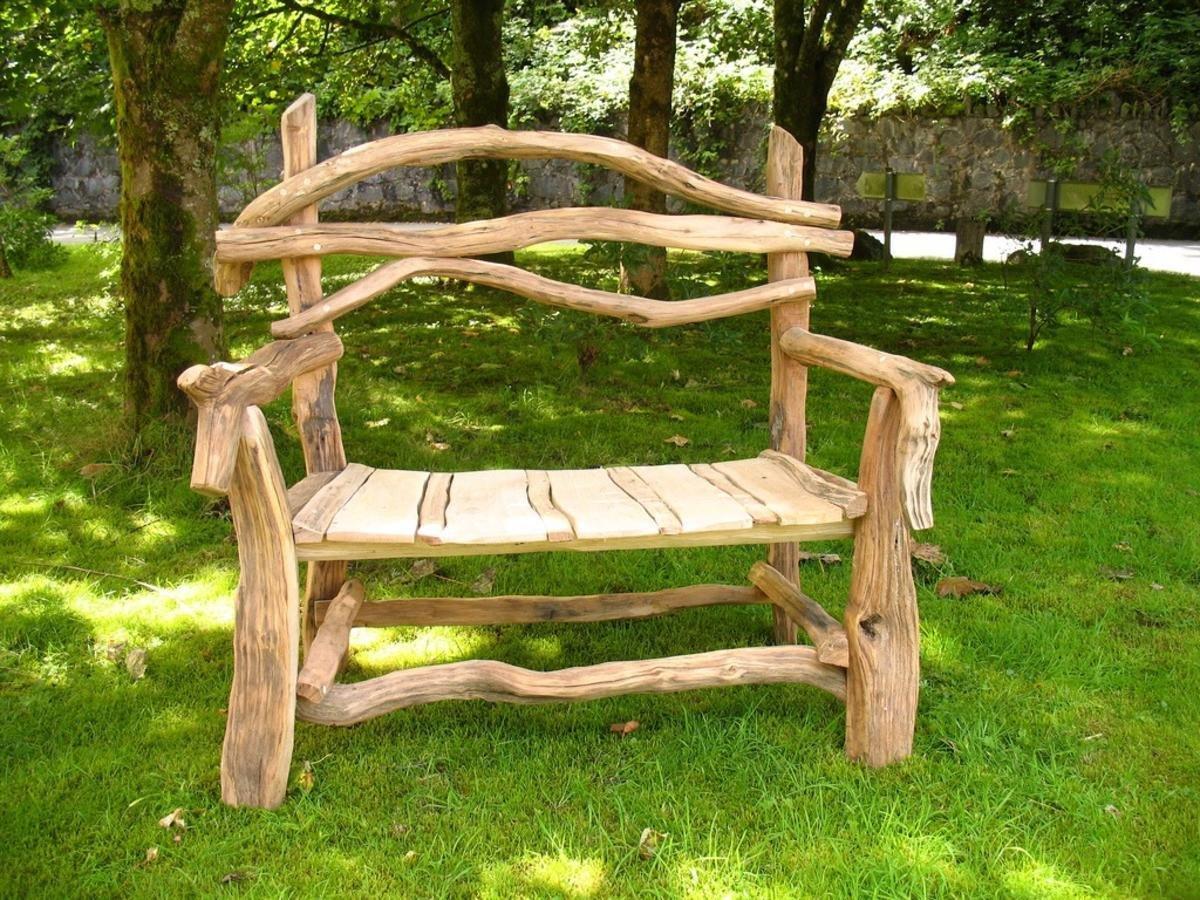 Скамейка из дерева своими руками для приусадебного участка 4