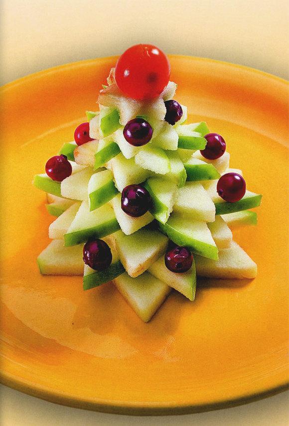 Ёлочка из яблок: аппетитное декоративное деревце своими руками