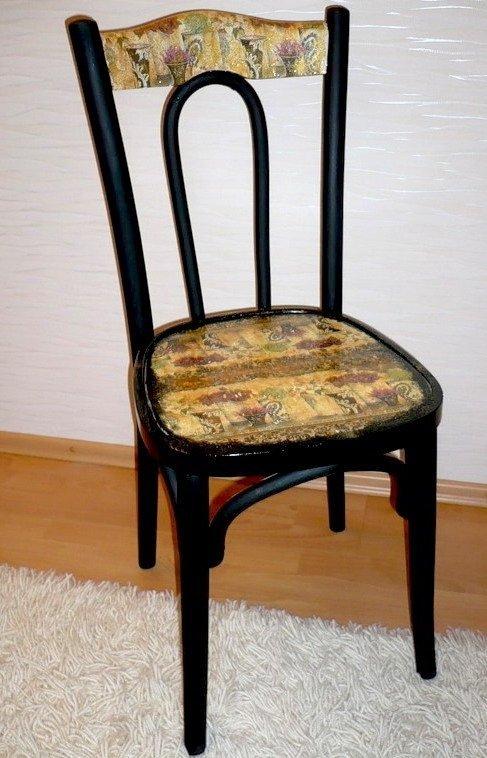 Декупаж стульев своими руками фото