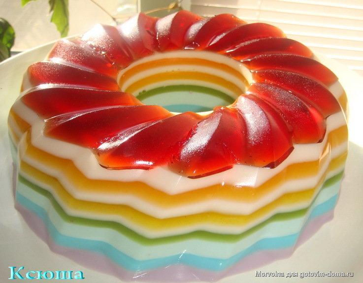 Торт желе слоями рецепт с фото