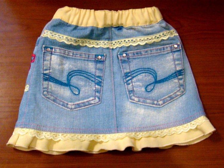 Детские джинсы из старых джинсов