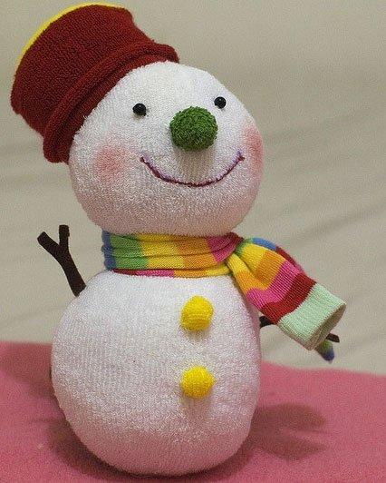 Снеговик простой своими руками