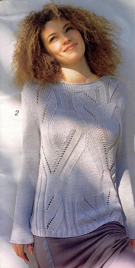 Вязание оригинального свитера спицами 352