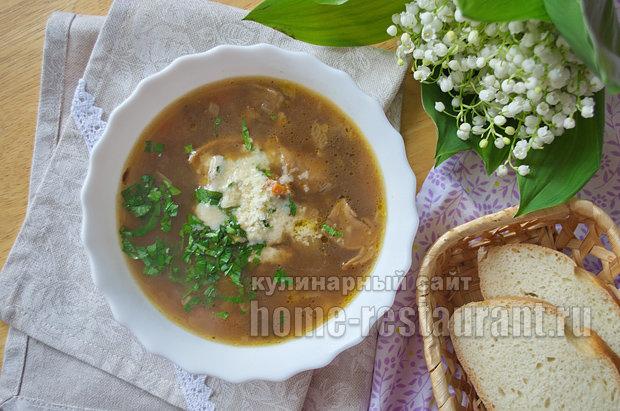 Суп из белых грибов сушеных в мультиварке
