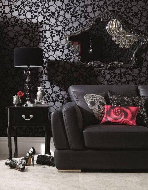 Готический дизайн в комнате