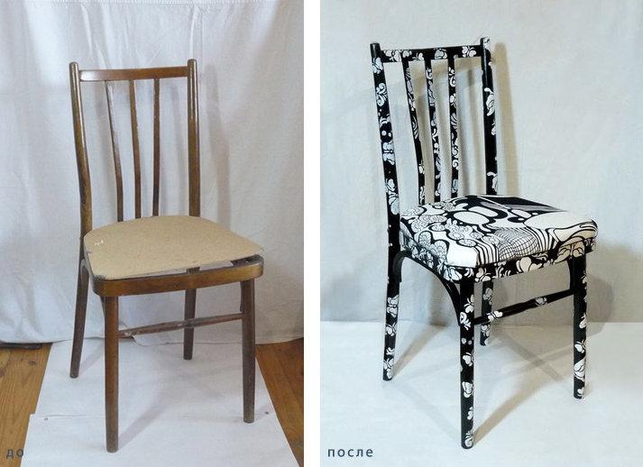 Как обшить старый стул своими руками
