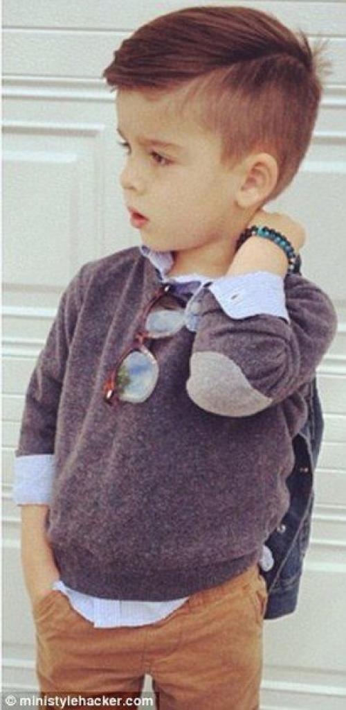 Модная прическа мальчика в год