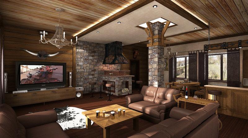 Дизайн охотничий домик