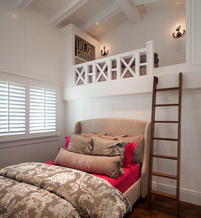 Как сделать спальню под потолком 929