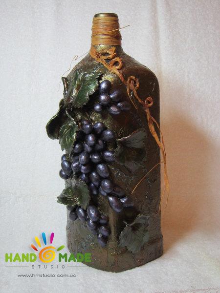 Декорирование бутылки своими руками мастер класс