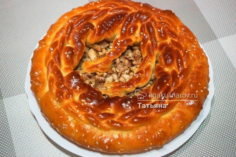 Куриный пирог на кефиреы
