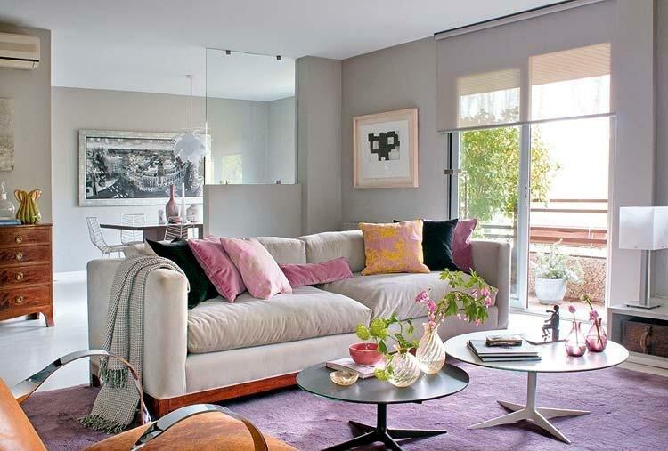 Пастельный цвет в интерьере гостиной