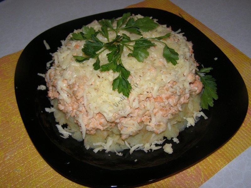 Королевский салат рецепт с красной рыбой