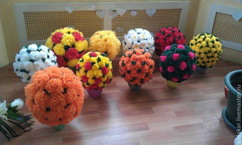 Изготовление топиария из цветов