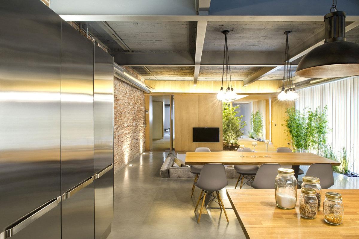 Дизайн потолка в стиле лофт