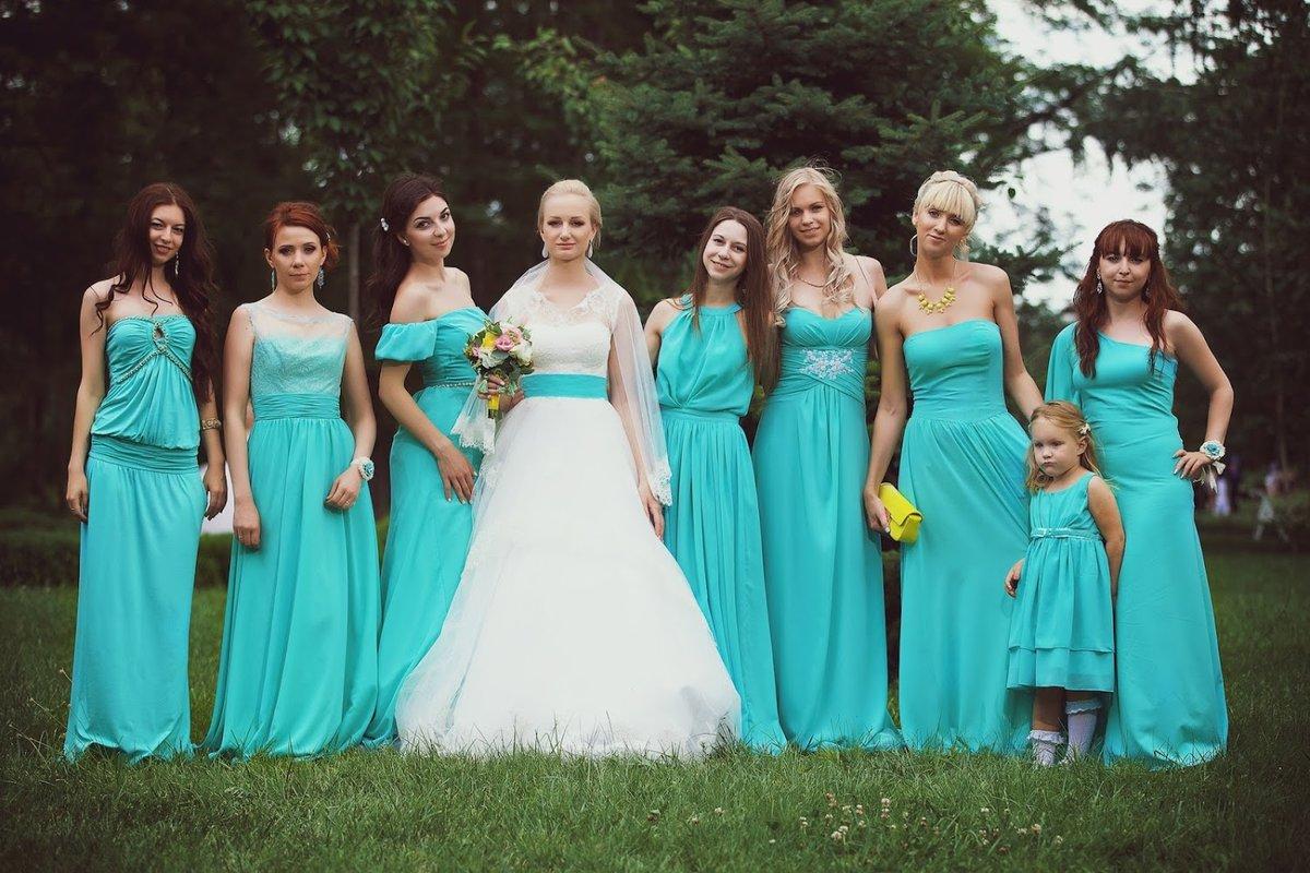 Платье для подружки невесты на свадьбу фото