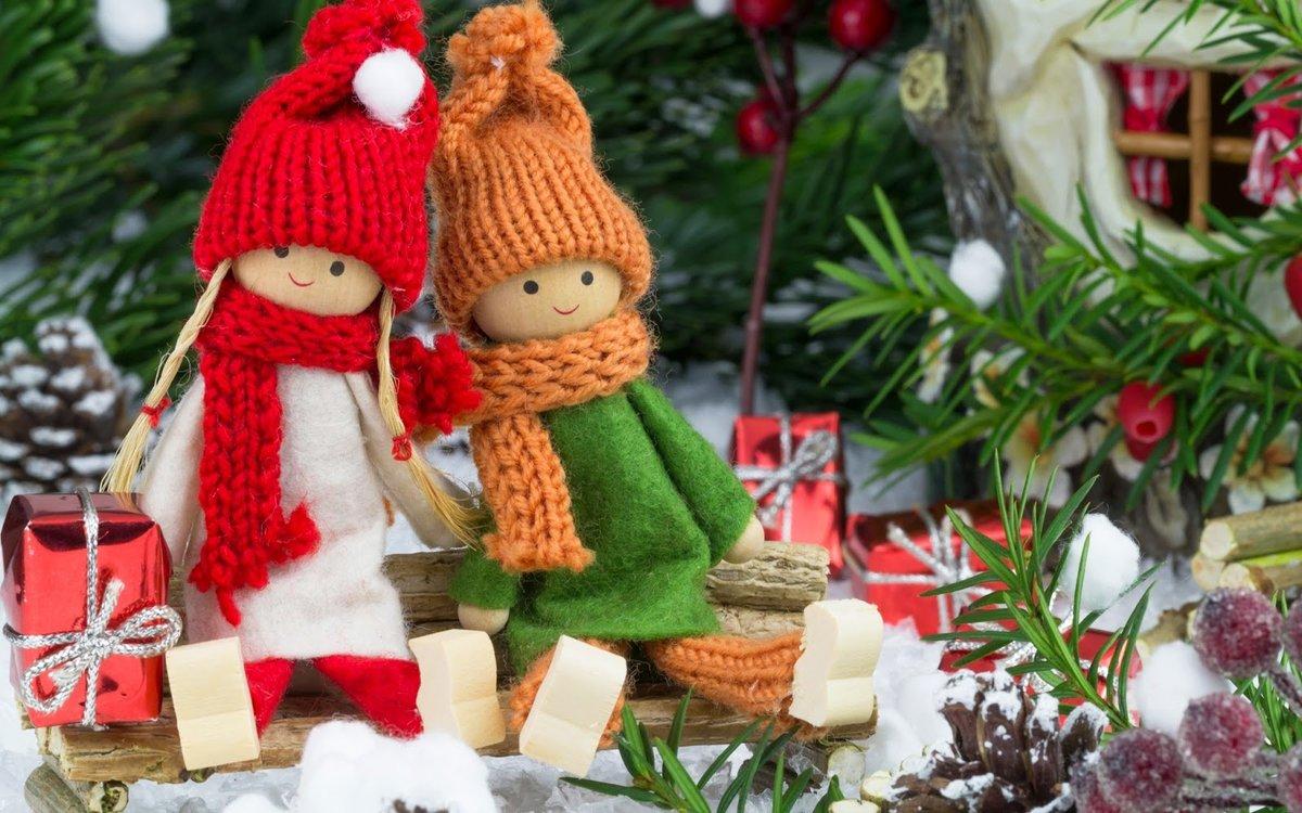 Новогодние украшения для кукол своими руками 1