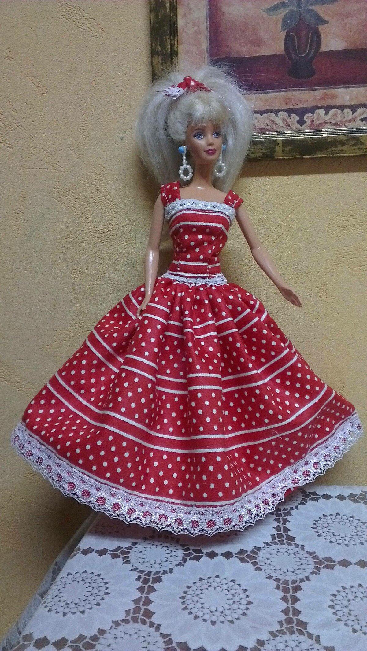 Одежда для Барби : своими руками, выкройки, в натуральную величину 17