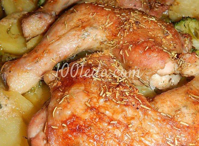 Картошка и куриные ножки в духовке рецепт с пошагово