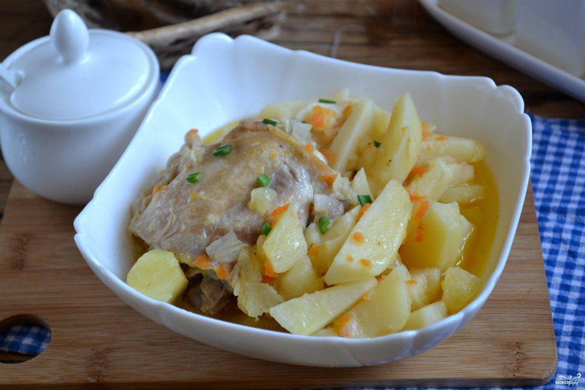 Жидкая картошка с курицей рецепт 84