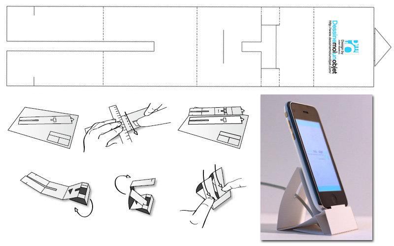 Как сделать подставку под телефон из бумаги своими руками 44