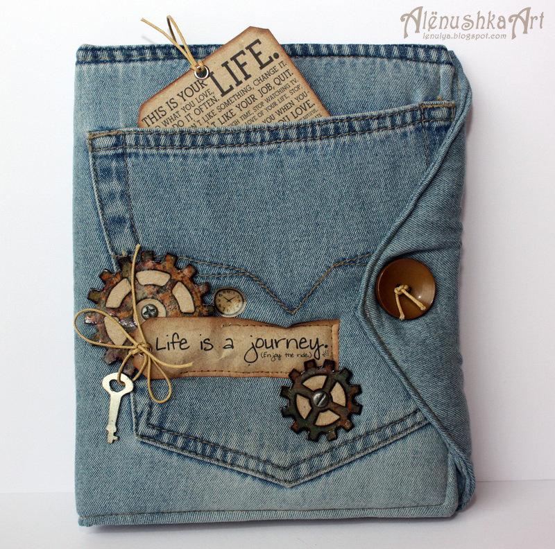 Обложка для блокнота из джинсовой ткани своими руками из ткани