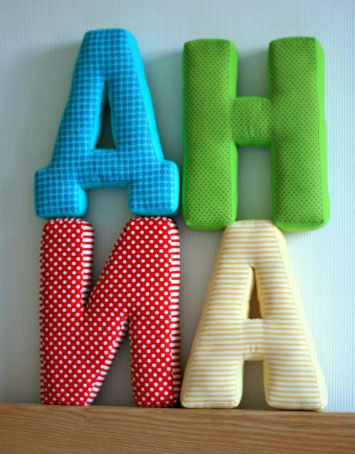 Мягкие буквы из ткани своими руками 14